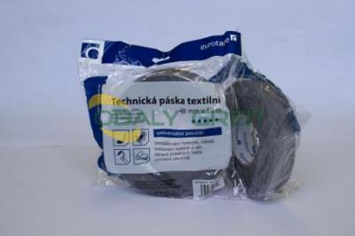Kobercová textilní páska1 - šedá - š.48 mm x 10 m -